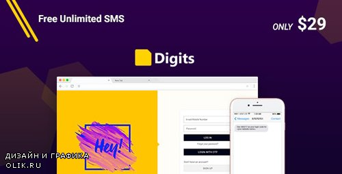 CodeCanyon - Digits v6.12.0.6 - WordPress Mobile Number Signup and Login - 19801105 - NULLED
