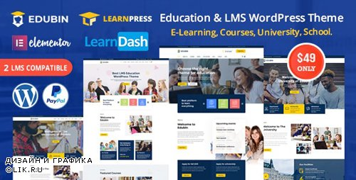 ThemeForest - Edubin v3.0.5 - Education LMS WordPress Theme - 24037792