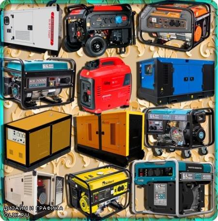 Png клипарты для фоторамки - Электрогенераторы