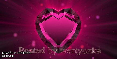 Videohive - Valentine`s ruby heart -  86216