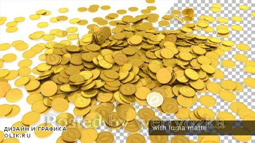 Videohive - Golden Coins Falling -  25513706