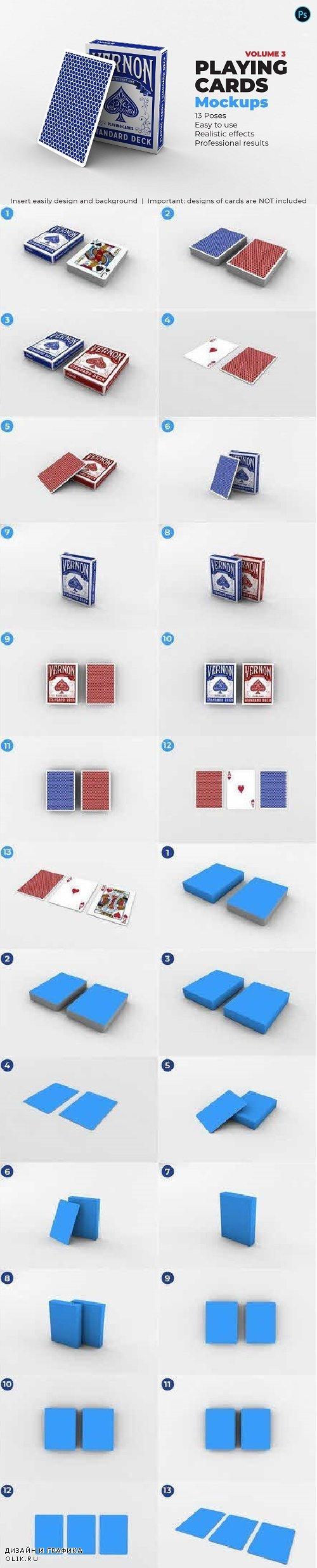 Playing Cards Mock-up V.3 - 3370704