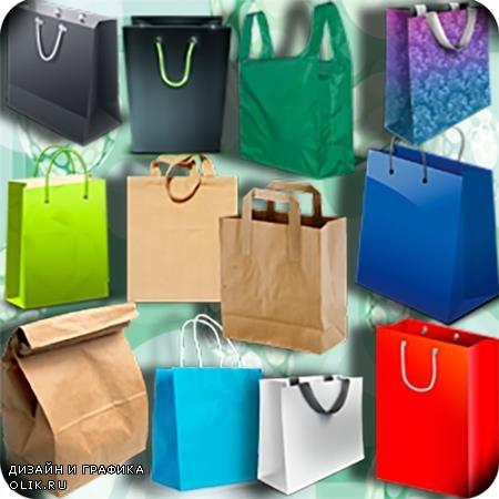 Растровые клипарты для фоторамок - Красочные сумки
