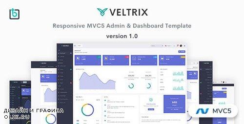 ThemeForest - Veltrix v1.0 - MVC5 Admin & Dashboard Template - 25475623