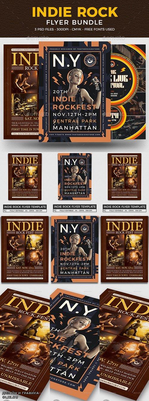 Indie Rock Flyer Bundle V2 - 25585558 - 4503267