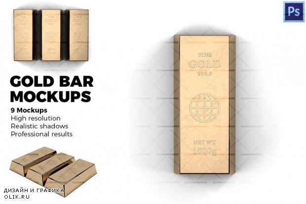 Gold bar - Mockups - 2194392