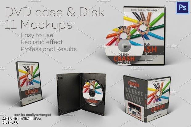 DVD case & Disk - 11 Mockups - 483645