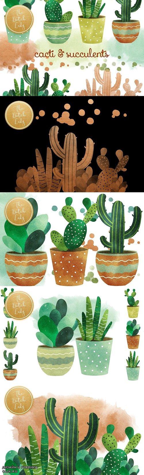 Cacti & Succulent Clipart Set - 4512868