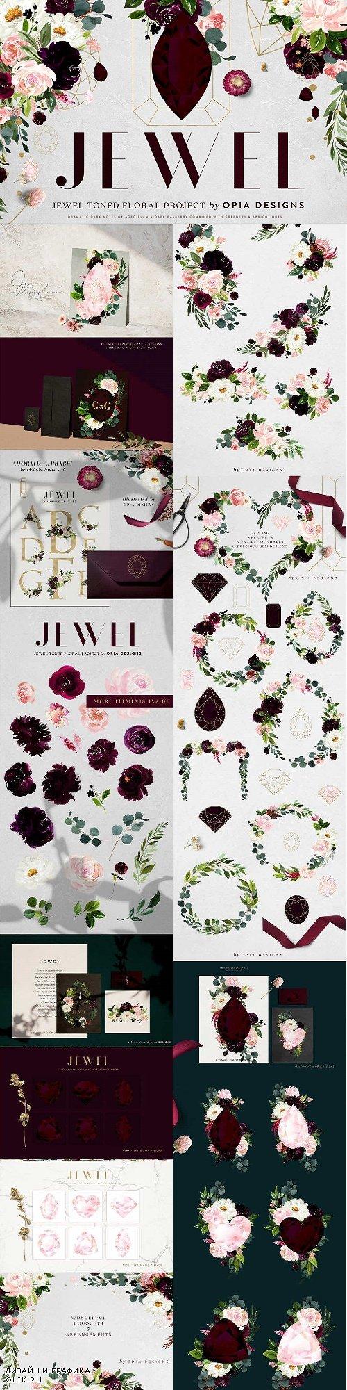 JEWEL - Deep Floral Project - 3170049
