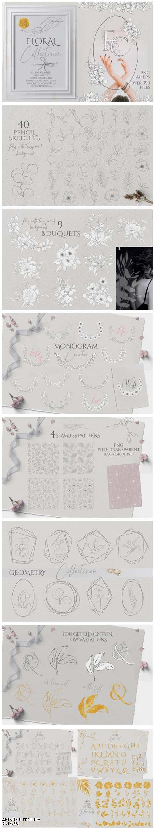 Floral Sketch Collection - 4522595