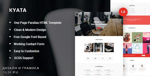 ThemeForest - Kyata v1.0 - One Page Parallax HTML5 Template (Update: 17 December 19) - 25248175