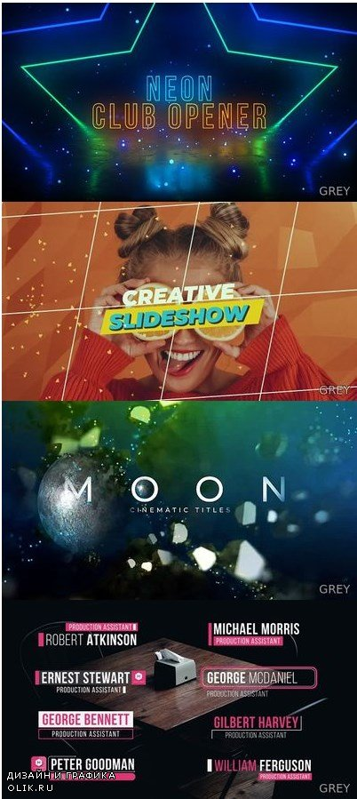 Assembly After Effects Templates 5in1 Bundle 1