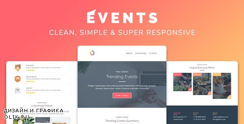 ThemeForest - Events v1.0 - Responsive Multipurpose Email Template - 25750569