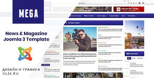 ThemeForest - MegaNews v3.9.6 - Responsive & Professional News Magazine Joomla Template - 22502298