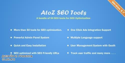 CodeCanyon - AtoZ SEO Tools v2.7 - Search Engine Optimization Tools - 12170678 - NULLED