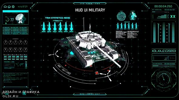 HUD UI Military Tank 354880 - After Effects Templates