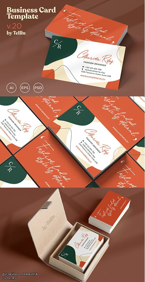 Business Card Template with Quote