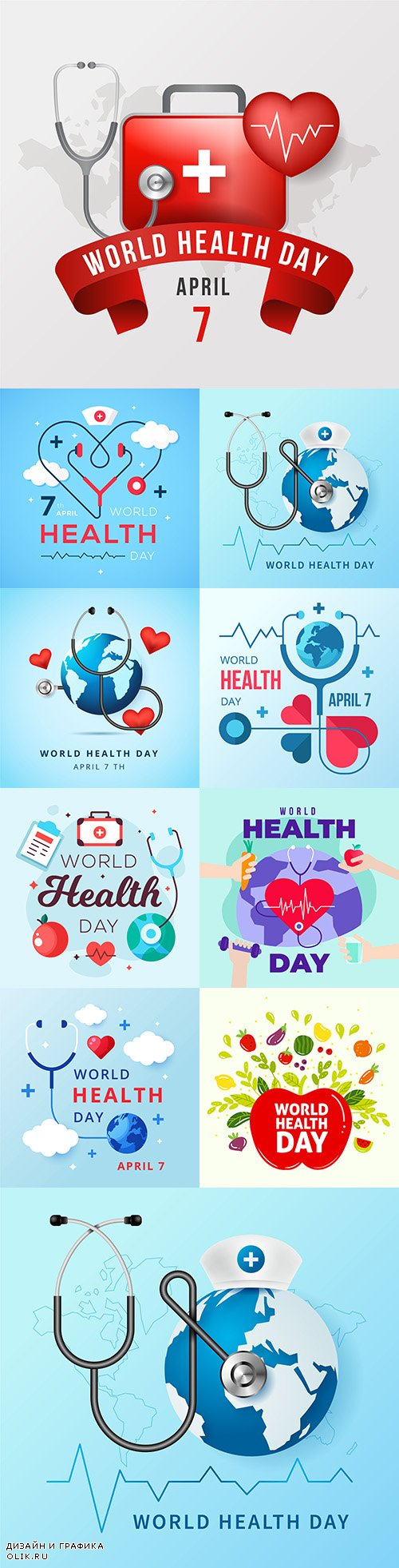 World Health Day flat design illustration 2