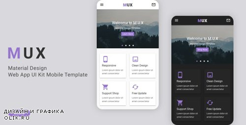 ThemeForest - MUX v1.0 - Material Design Web App UI Kit Mobile Template (Update: 18 February 20) - 21096516