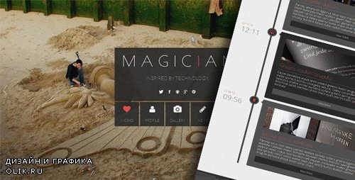ThemeForest - Magician v1.1 - Responsive Parallax Template - 4643983