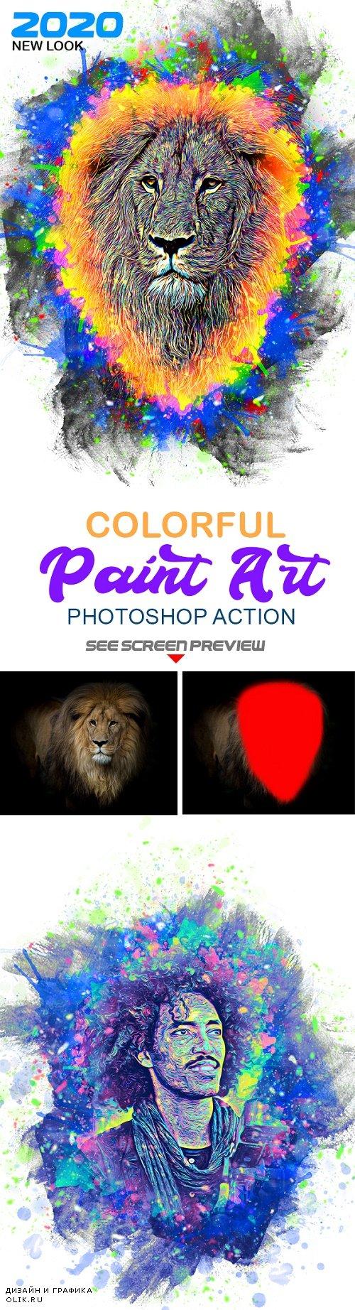 Colorful Paint Art Action 25543621