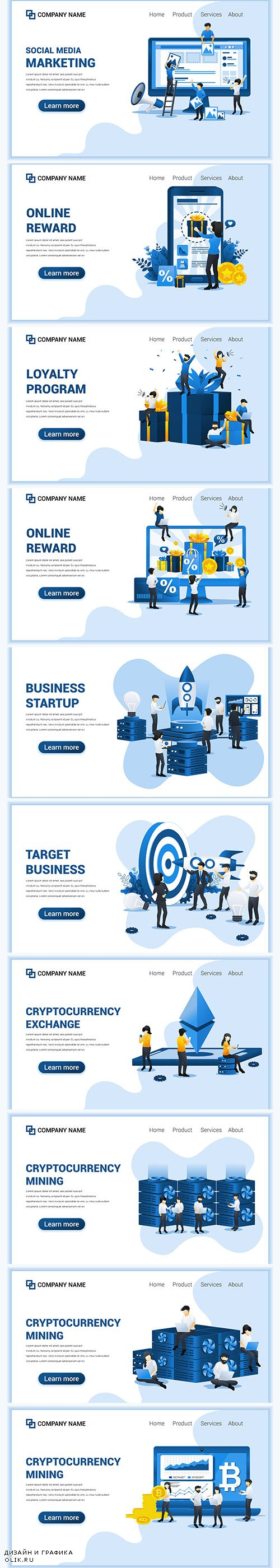 Business Online Concept with People Illustrations
