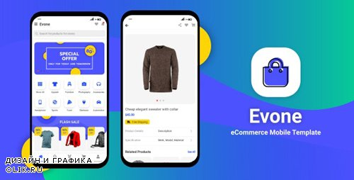 ThemeForest - Evone v1.0 - eCommerce Shop Store Mobile Template (Update: 18 February 20) - 25162276