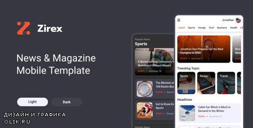ThemeForest - Zirex v1.0 - News Magazine Mobile Template (Update: 18 February 20) - 25185654