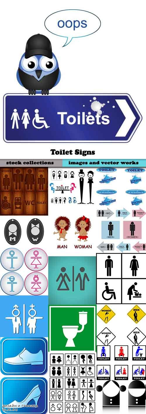 Toilet Signs-25xEPS