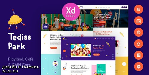 ThemeForest - Tediss v1.0.3 - Play Area & Child Care Center WordPress Theme - 23158793