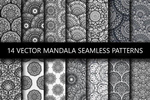 Mandala Seamless Patterns - 1955668