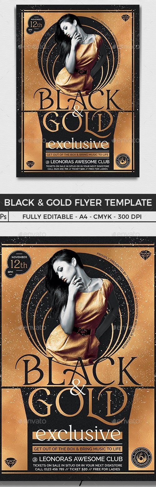 Black and Gold Flyer Template V20  - 25794968 - 4600517