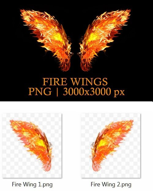 Fire Wing PNG - 4130369