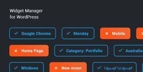 CodeCanyon - Widget Manager v1.0.0 - WordPress widgets management system - 25783197