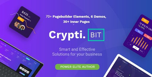 ThemeForest - CryptiBIT v1.0.1 - Technology, Cryptocurrency, ICO/IEO Landing Page WordPress theme - 24195278