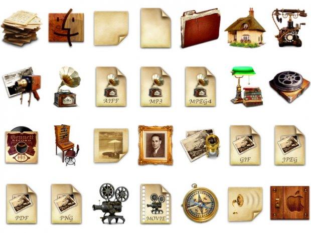 Старинные и Антикварные иконки в формате PNG