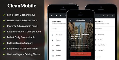 ThemeForest - Clean Mobile v1.5 - WordPress Theme - 19727846