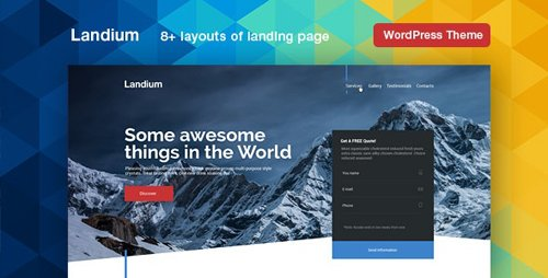 ThemeForest - Landium v2.2.3 - WordPress App Landing Page - 18914504