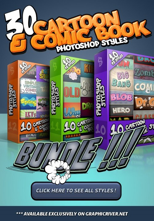 Cartoon and Comic Book Styles Bundle 4 25683872