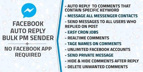 CodeCanyon - Facebook Auto Reply & Bulk Private Message Sender v1.2 - 22324688