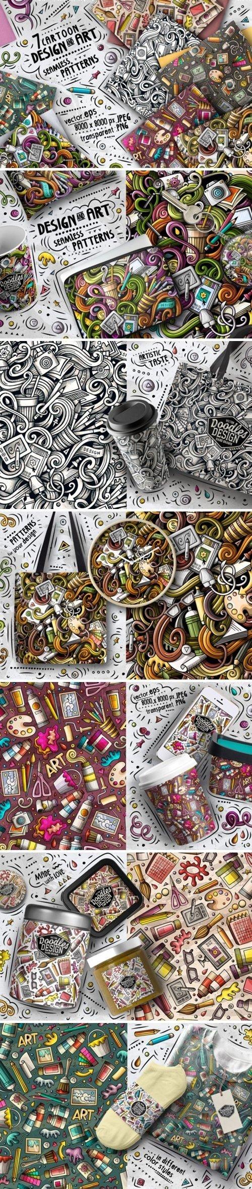 Designer Doodle Seamless Patterns - 4606022