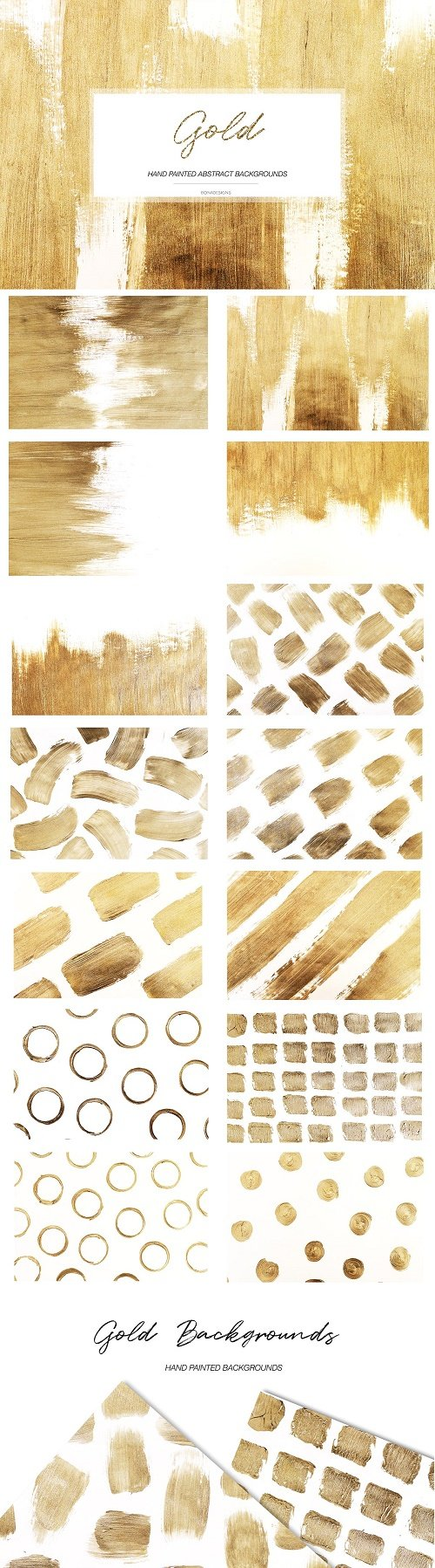 Gold Abstract Backgrounds - 4605460