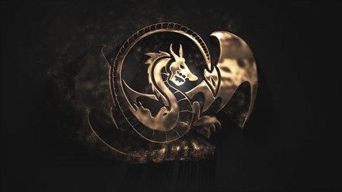 Gold Particles Logo 25798082