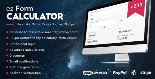 CodeCanyon - ez Form Calculator v2.13.0.2 - WordPress plugin - 7595334