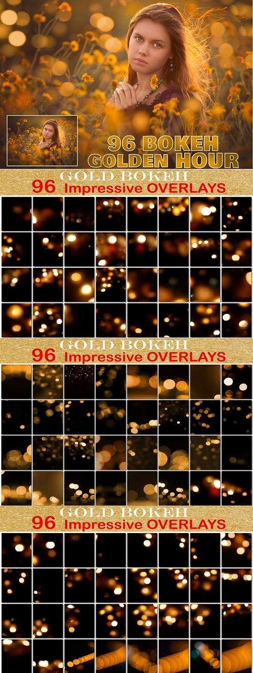 Golden Bokeh Overlays, Golden Hour - 4127110
