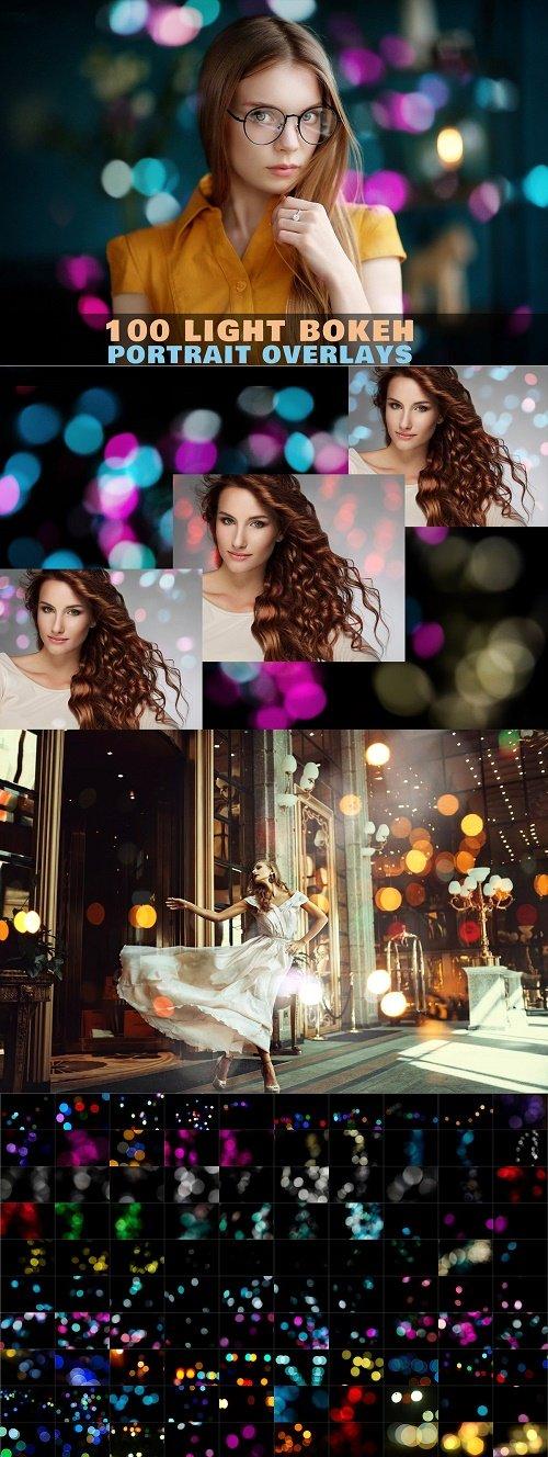 Light bokeh portrait photo overlays - 4333872