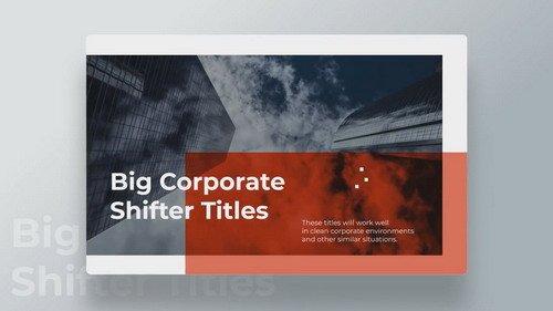 Corporate Shifter Titles 430897 - PRMPRO Template