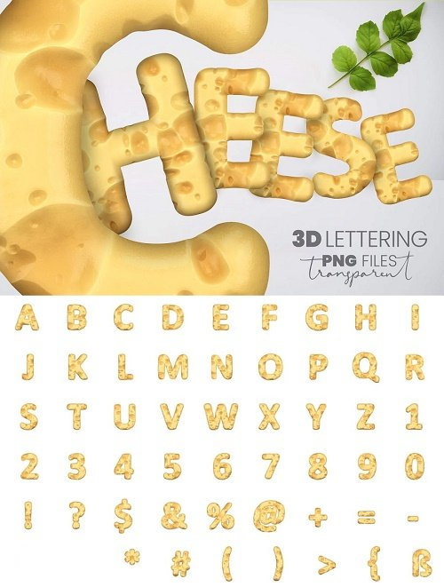 Swiss Cheese 3D Lettering - 4614711