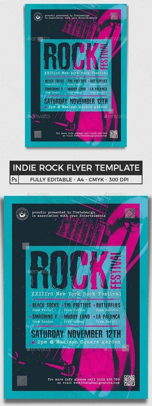 Indie Rock Flyer Template V10 - 25845459 - 4620605