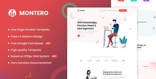 ThemeForest - Montero v1.0 - One Page Parallax HTML5 Template - 25587343